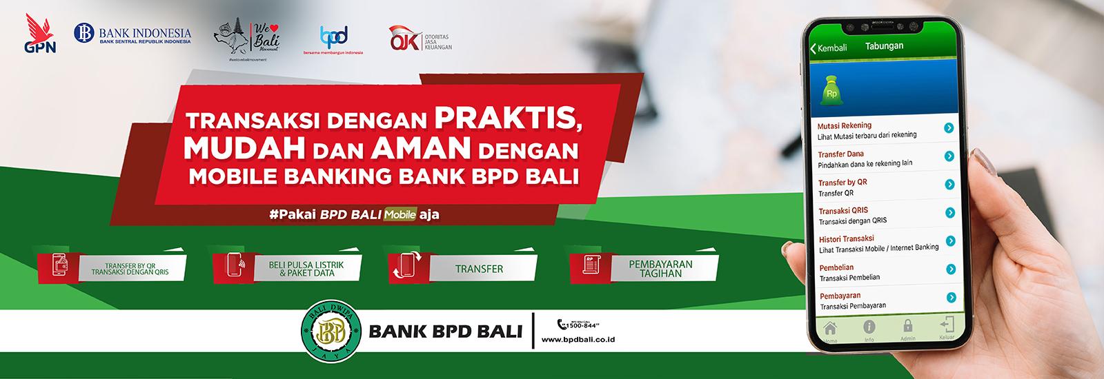 Iklan Home Diatas BPD Bali transaksi online