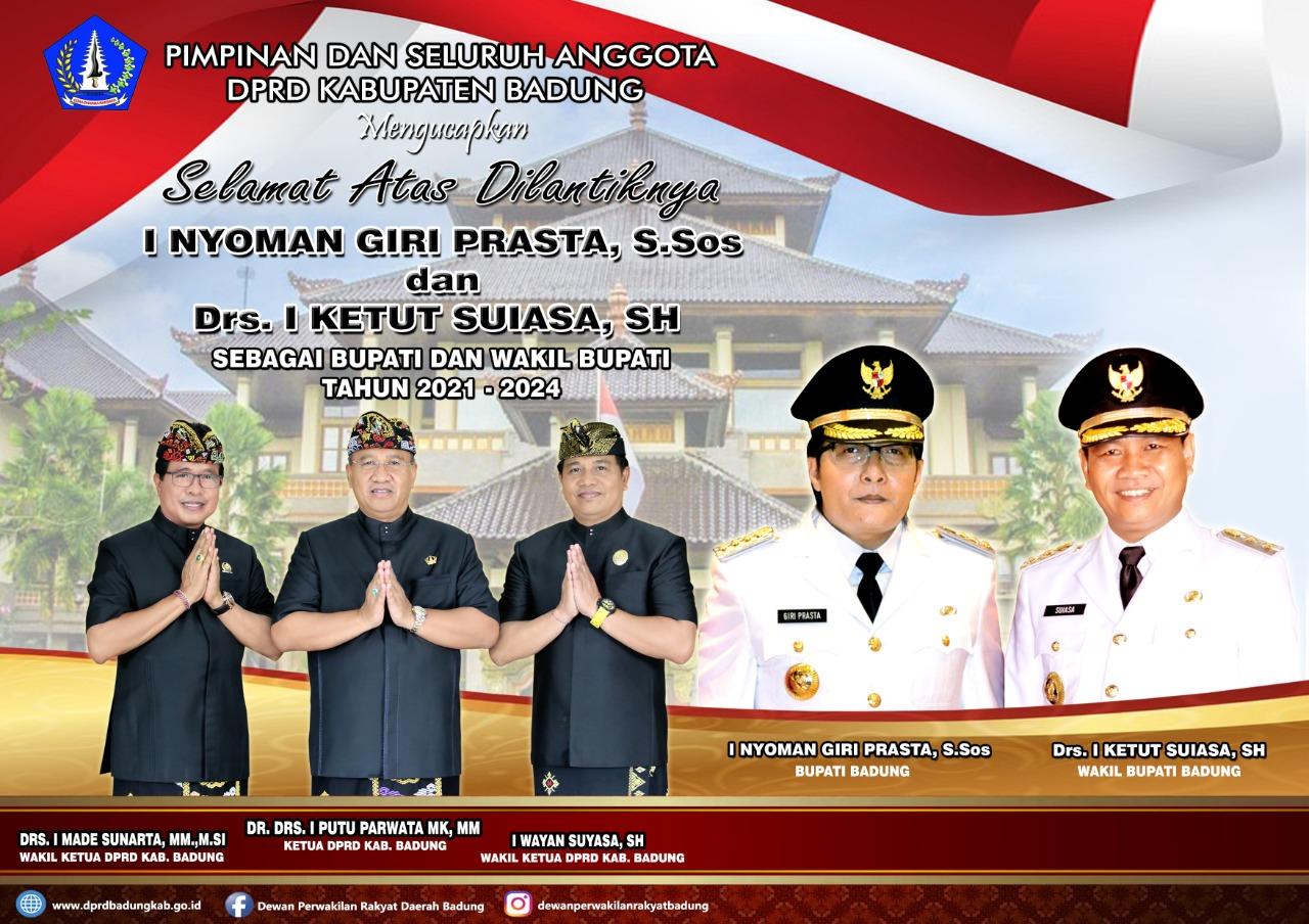 Iklan DPRD Badung atas Pelantikan Bp Bupati Badung