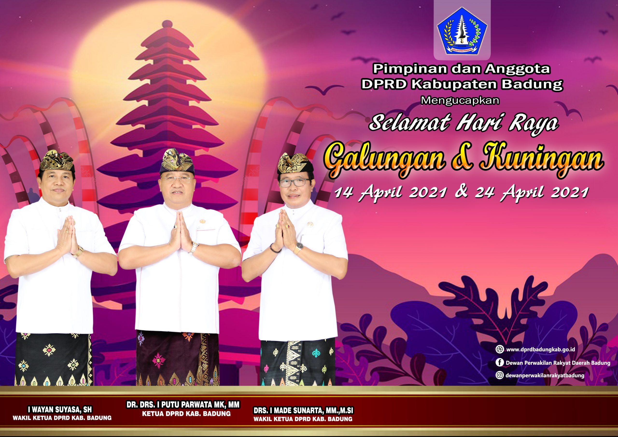 Iklan DPRD Badung Selamat Hari Raya Galungan April 2021