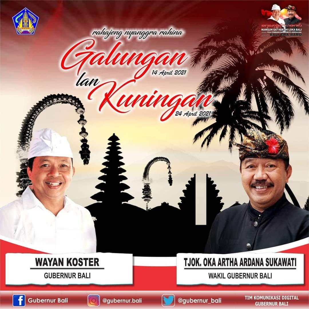 Iklan Gubernur Bali Selamat Hari Raya Galungan April 2021